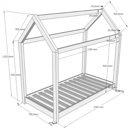 lit cabane 70x140