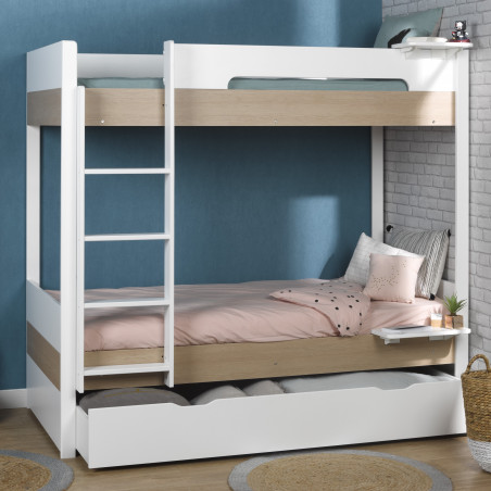lit superposé avec matelas