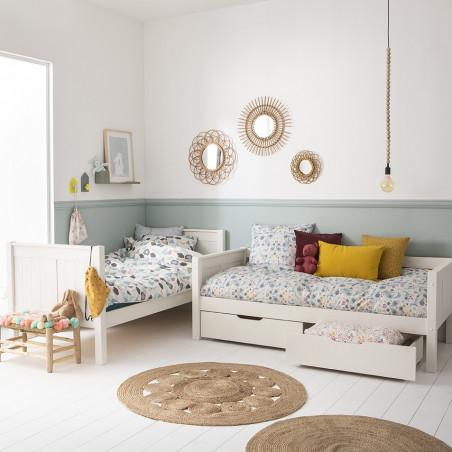 lit superposé blanc démontable pour enfant