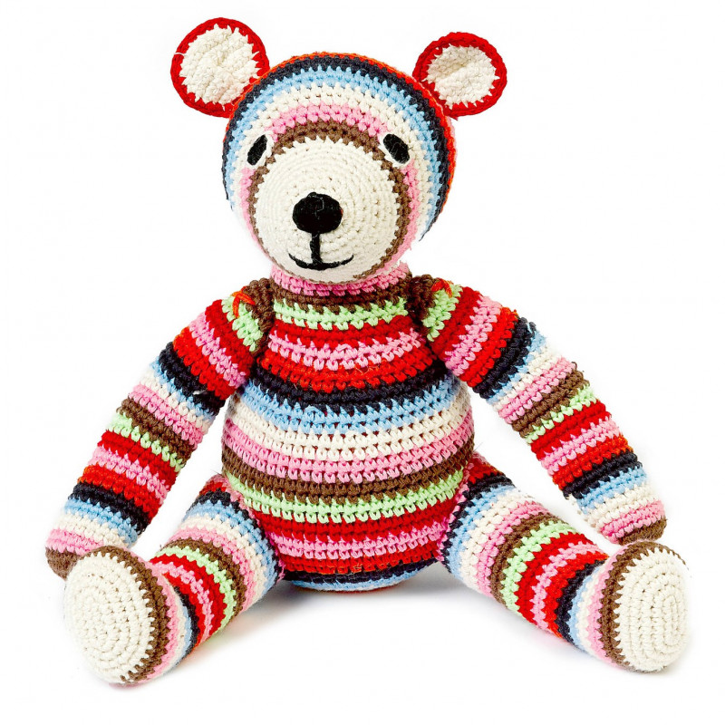 Doudou teddy multicolore