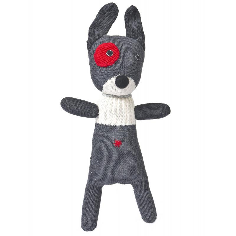 Doudou petit chien gris