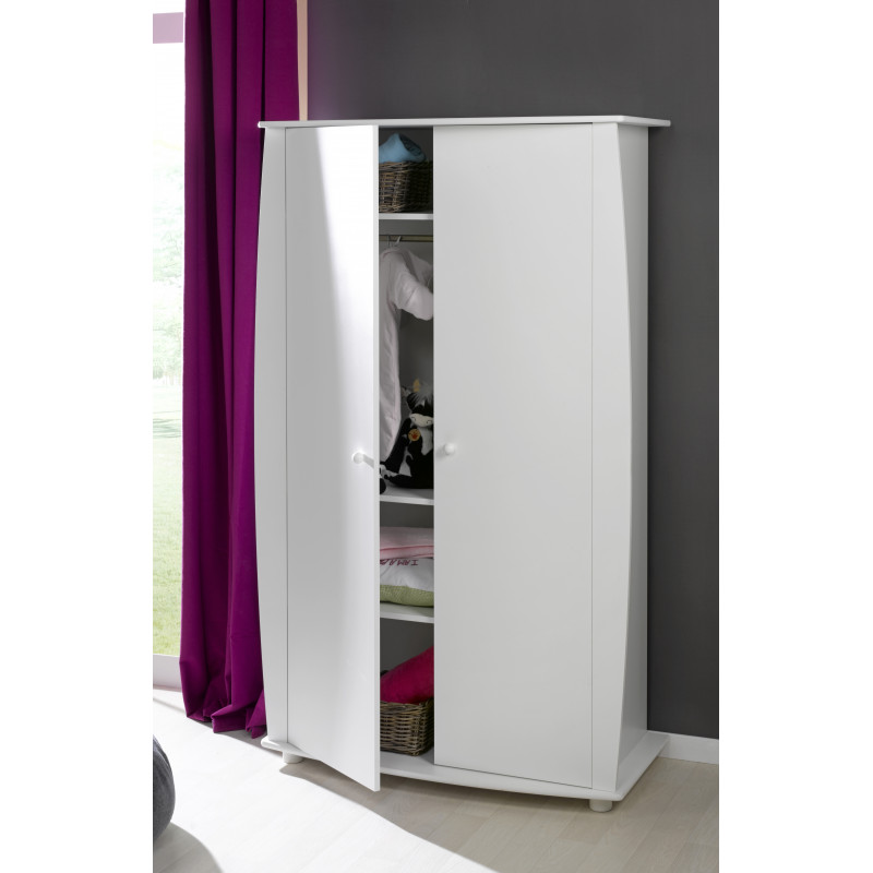 armoire bebe blanc 3 tag res. Black Bedroom Furniture Sets. Home Design Ideas
