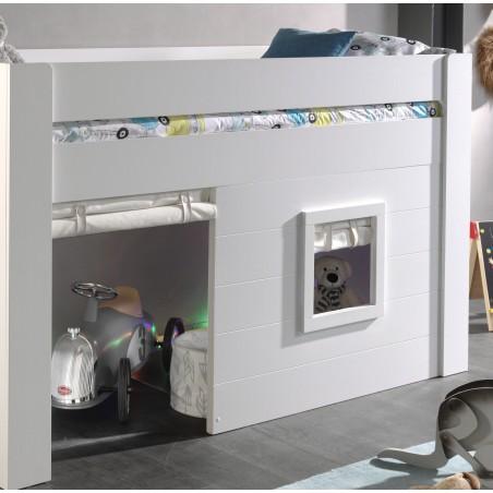 Paire de stores déroulants pour lit cabane mi-hauteur 90x...