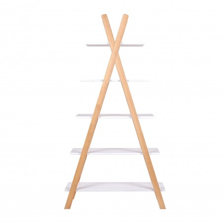 teepee bookcase 5 shelves Thimoté white 2