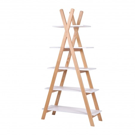 teepee bookcase 5 shelves Thimoté white 3