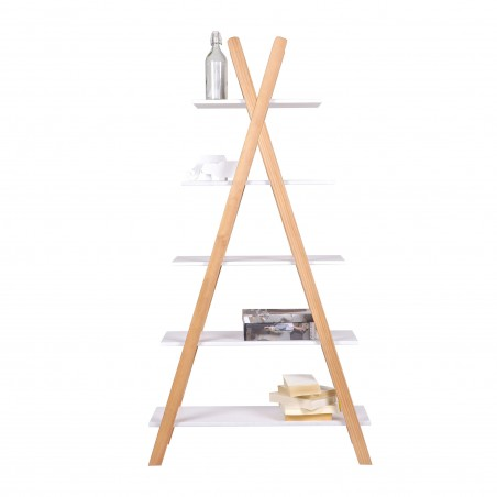 teepee bookcase 5 shelves Thimoté white 4