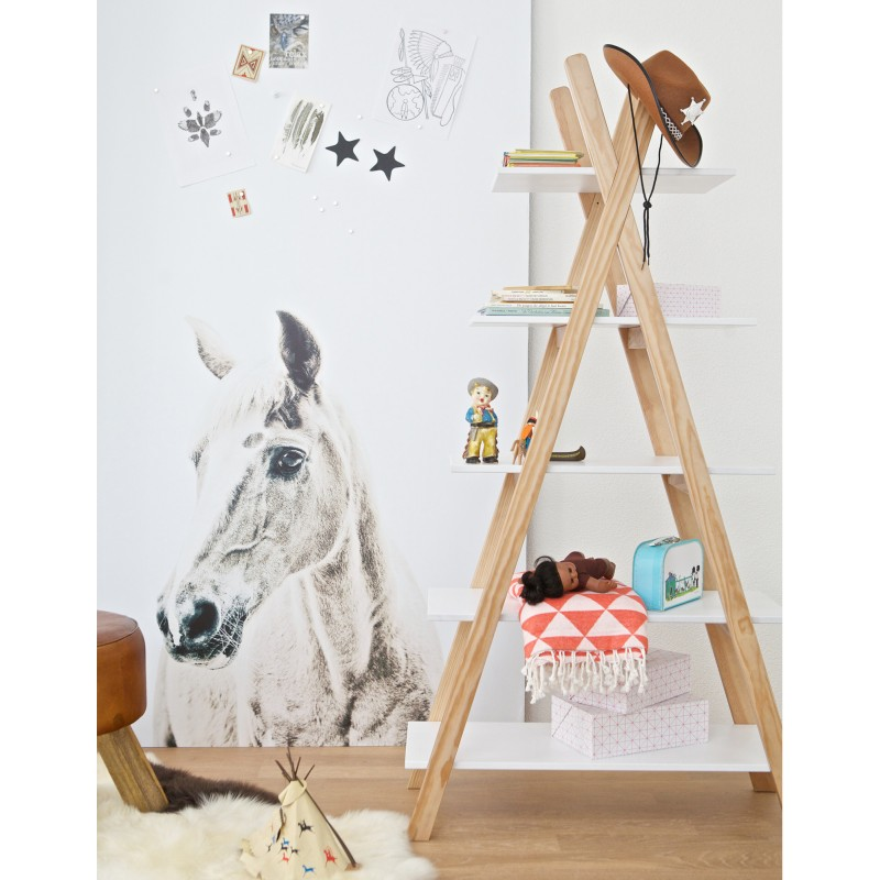teepee bookcase 5 shelves Thimoté white